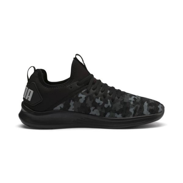 IGNITE Flash Camouflage Men's Running Shoes, Black-Asphalt-Quarry, large