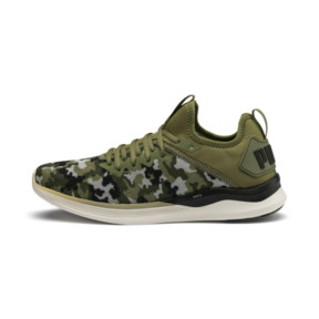 Thumbnail 1 of IGNITE Flash Camouflage Men's Running Shoes, Olivine-Black-Whisper White, medium