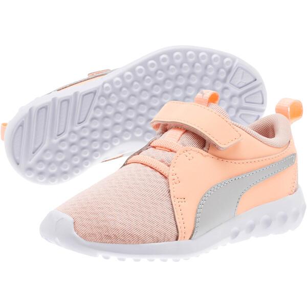 Carson 2 Metallic AC Little Kids' Shoes, Peach Bud-Bright Peach-White, large