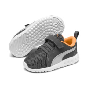 Thumbnail 2 of Carson 2 Casual AC Little Kids' Shoes, Char Gray-Glac Gray-Orange, medium
