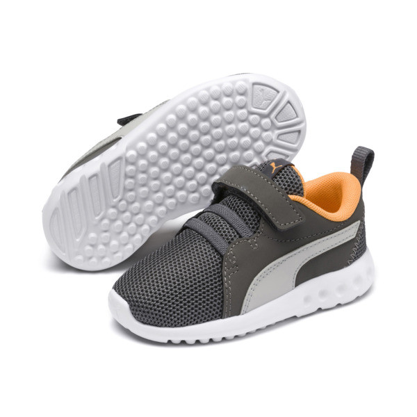 Carson 2 Casual AC Sneakers PS, Char Gray-Glac Gray-Orange, large