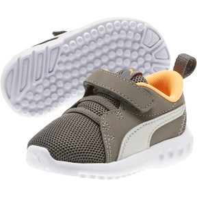 Thumbnail 2 of Carson 2 Casual Toddler Shoes, Char Gray-Glac Gray-Orange, medium