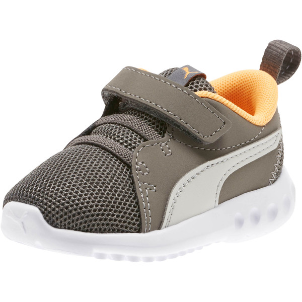 Carson 2 Casual Toddler Shoes, Char Gray-Glac Gray-Orange, large