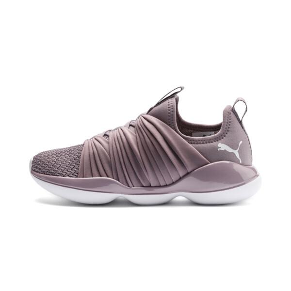 Flourish Women's Training Shoes, Elderberry-Puma White, large