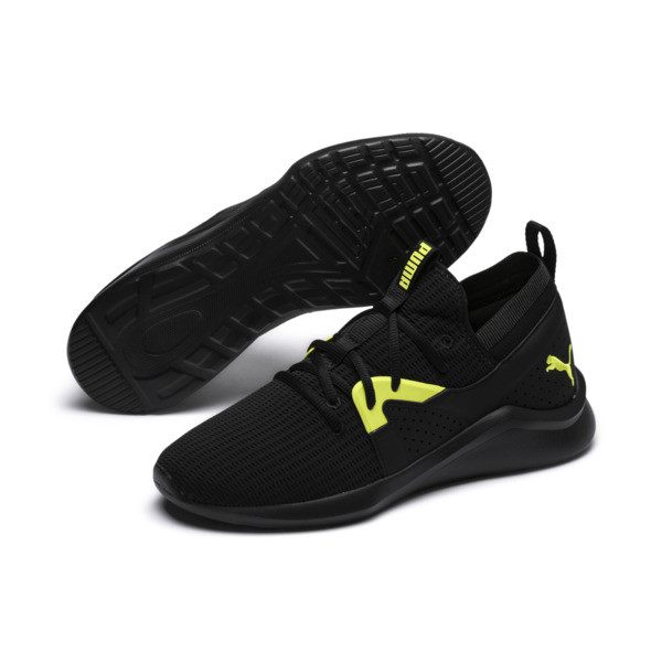 Emergence Future Men's Training Shoes, Black-Charcoal-Yellow, large