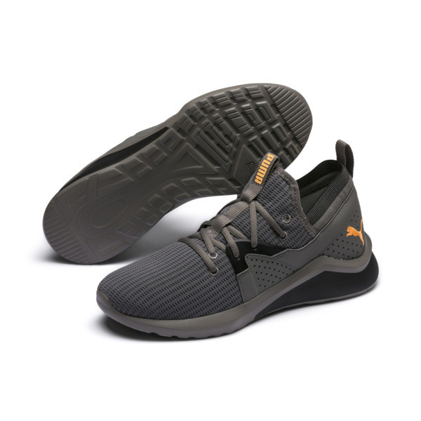 Emergence Future Men's Training Shoes, Charcoal Gray-Black-Orange, large