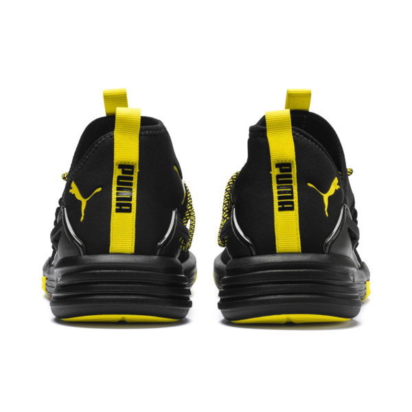 Mantra Caution Men's Training Shoes, Puma Black-Blazing Yellow, large