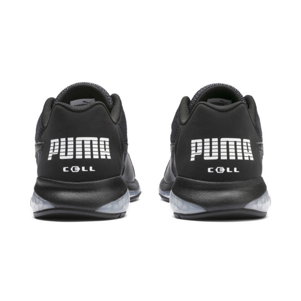 Cell Ultimate Point Knitted Men's Running Shoes, Puma Black-Puma White, large