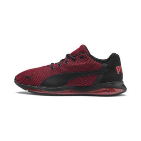 Thumbnail 1 of Cell Ultimate Point Knitted Men's Running Shoes, Puma Black-High Risk Red, medium