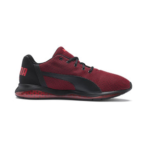 Thumbnail 5 of Cell Ultimate Point Knitted Men's Running Shoes, Puma Black-High Risk Red, medium