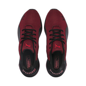 Thumbnail 6 of Cell Ultimate Point Knitted Men's Running Shoes, Puma Black-High Risk Red, medium