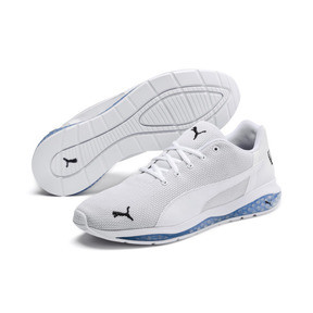 Thumbnail 2 of Chaussure de course Cell Ultimate Point Knitted pour homme, Puma White-Glacier Gray, medium
