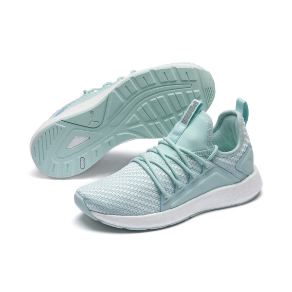 NRGY Neko Cosmic Women's Running Trainers, Fair Aqua-Puma White, large