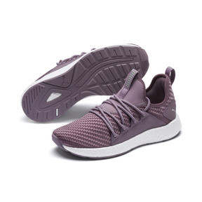 Thumbnail 2 of NRGY Neko Cosmic Women's Running Trainers, Elderberry-Puma White, medium