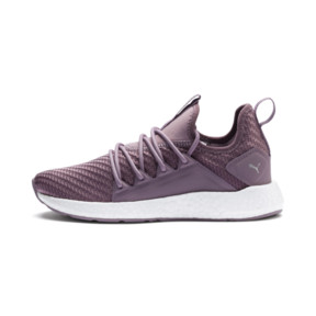 Thumbnail 1 of NRGY Neko Cosmic Women's Running Trainers, Elderberry-Puma White, medium