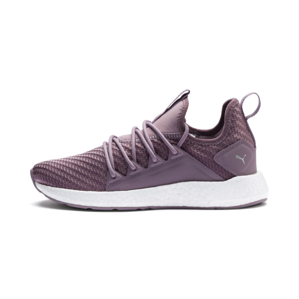 NRGY Neko Cosmic Women's Running Trainers, Elderberry-Puma White, large