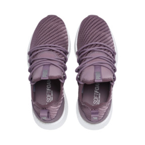 Thumbnail 6 of NRGY Neko Cosmic Women's Running Trainers, Elderberry-Puma White, medium