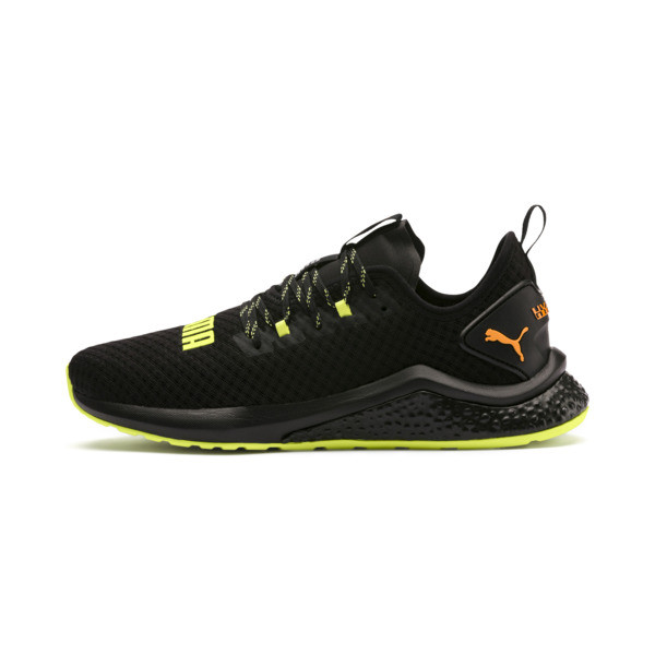 HYBRID NX Daylight Men's Running Shoes, Black-FizzyYellow-OrangePop, large