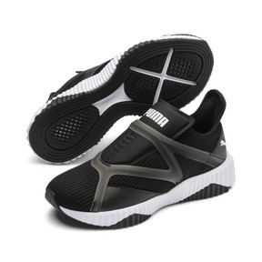 Thumbnail 2 of Defy Cage Women's Trainers, Puma Black-Puma White, medium