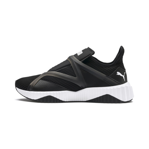 Defy Cage Women's Trainers, Puma Black-Puma White, large
