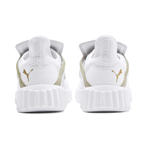 Thumbnail 3 of Defy Cage Women's Trainers, Puma White-Gold, medium