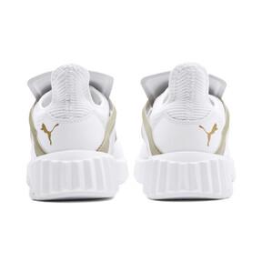 Thumbnail 3 van Defy Cag sportschoenen voor vrouwen, Puma White-Gold, medium