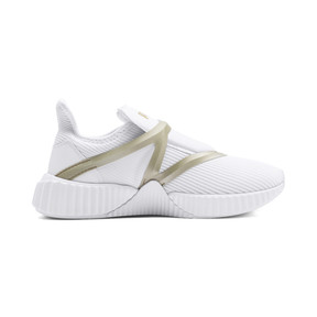 Thumbnail 5 of Defy Cage Women's Trainers, Puma White-Gold, medium