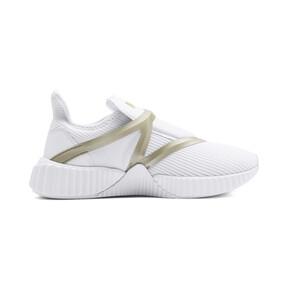 Thumbnail 5 van Defy Cag sportschoenen voor vrouwen, Puma White-Gold, medium