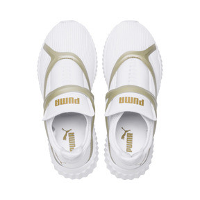 Thumbnail 6 of Defy Cage Women's Trainers, Puma White-Gold, medium