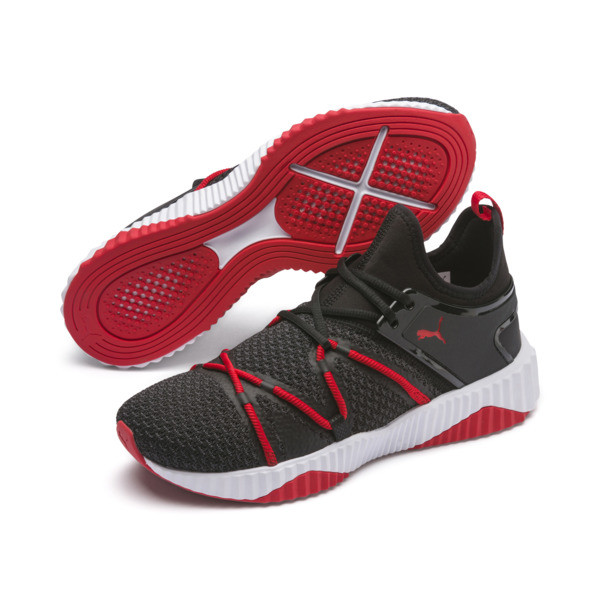 Defy Deco Men's Training Shoes, Puma Black-High Risk Red, large
