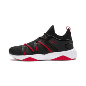 Thumbnail 1 of ディファイ デコ, Puma Black-High Risk Red, medium-JPN