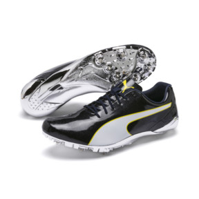 Thumbnail 2 of evoSPEED Electric 7 Training Shoes, Black-Blazing Yellow-White, medium