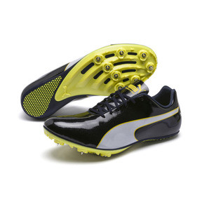Thumbnail 2 of evoSPEED Sprint 9 Running Shoes, Black-Blazing Yellow-White, medium