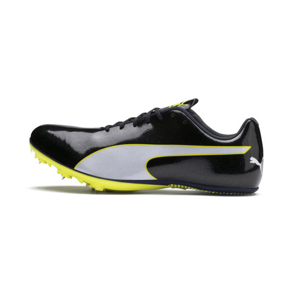 evoSPEED Sprint 9 Running Shoes, Black-Blazing Yellow-White, large