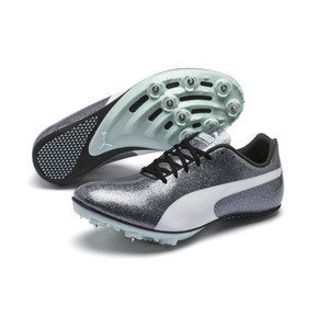 Thumbnail 2 of evoSPEED Sprint 9 Women's Track Spikes, Steel Gray-Fair Aqua-White, medium