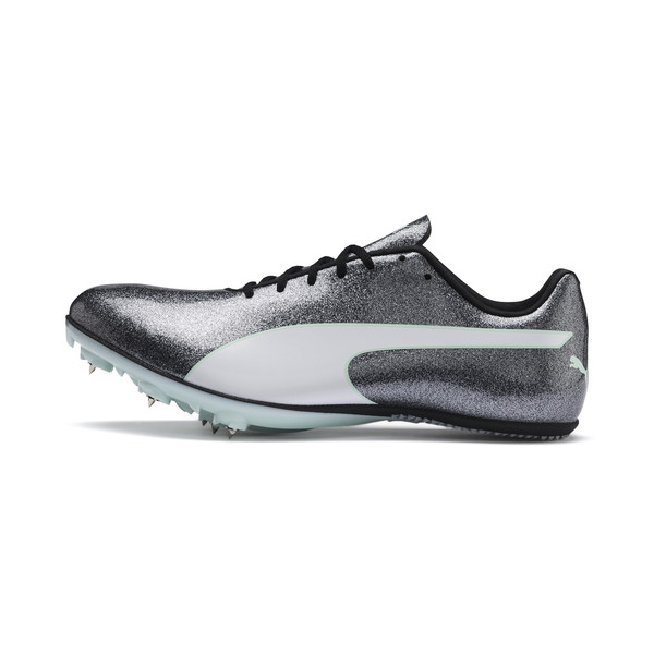 evoSPEED Sprint 9 Women's Track Spikes, Steel Gray-Fair Aqua-White, large