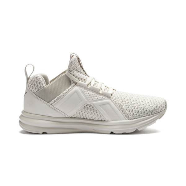 Enzo Knit Women's Trainers, Whisper White-Wht-Rose Gold, large