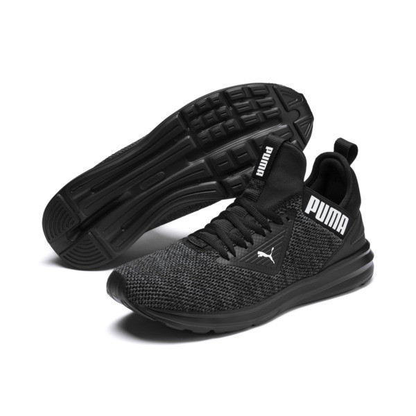 Enzo Beta Woven Men's Training Shoes, Puma Black-Asphalt, large