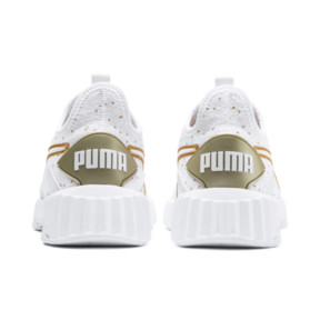 Thumbnail 4 of Defy Speckle Women's Training Shoes, Puma White-Gold, medium