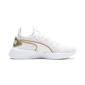 Thumbnail 5 of Defy Speckle Women's Training Shoes, Puma White-Gold, medium