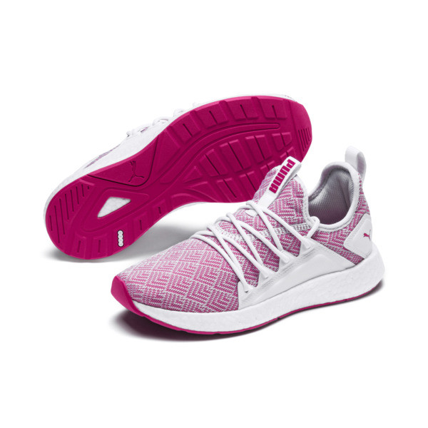 NRGY Neko Stellar Women's Running Shoes, Puma White-Fuchsia Purple, large