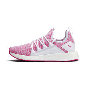 Thumbnail 1 of NRGY Neko Stellar Women's Running Shoes, Puma White-Fuchsia Purple, medium