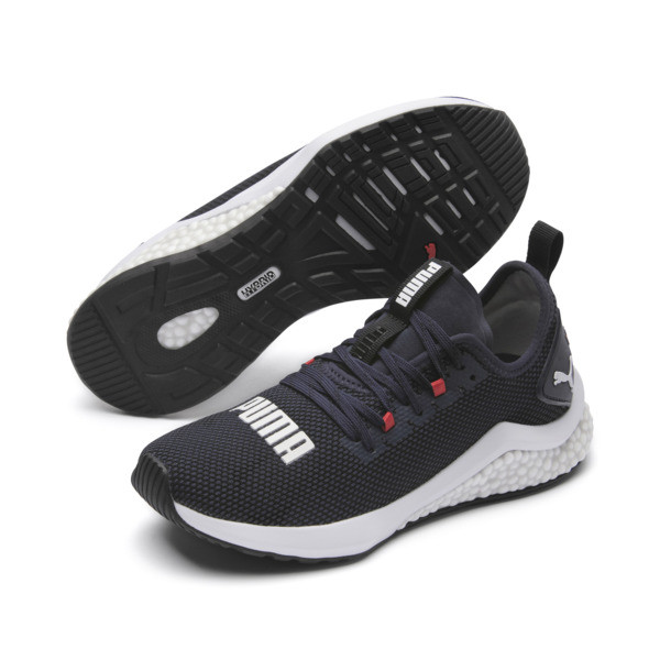HYBRID NX Running Shoes JR, Peacoat-High Risk Red-White, large