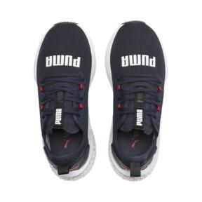 Thumbnail 6 of HYBRID NX Running Shoes JR, Peacoat-High Risk Red-White, medium