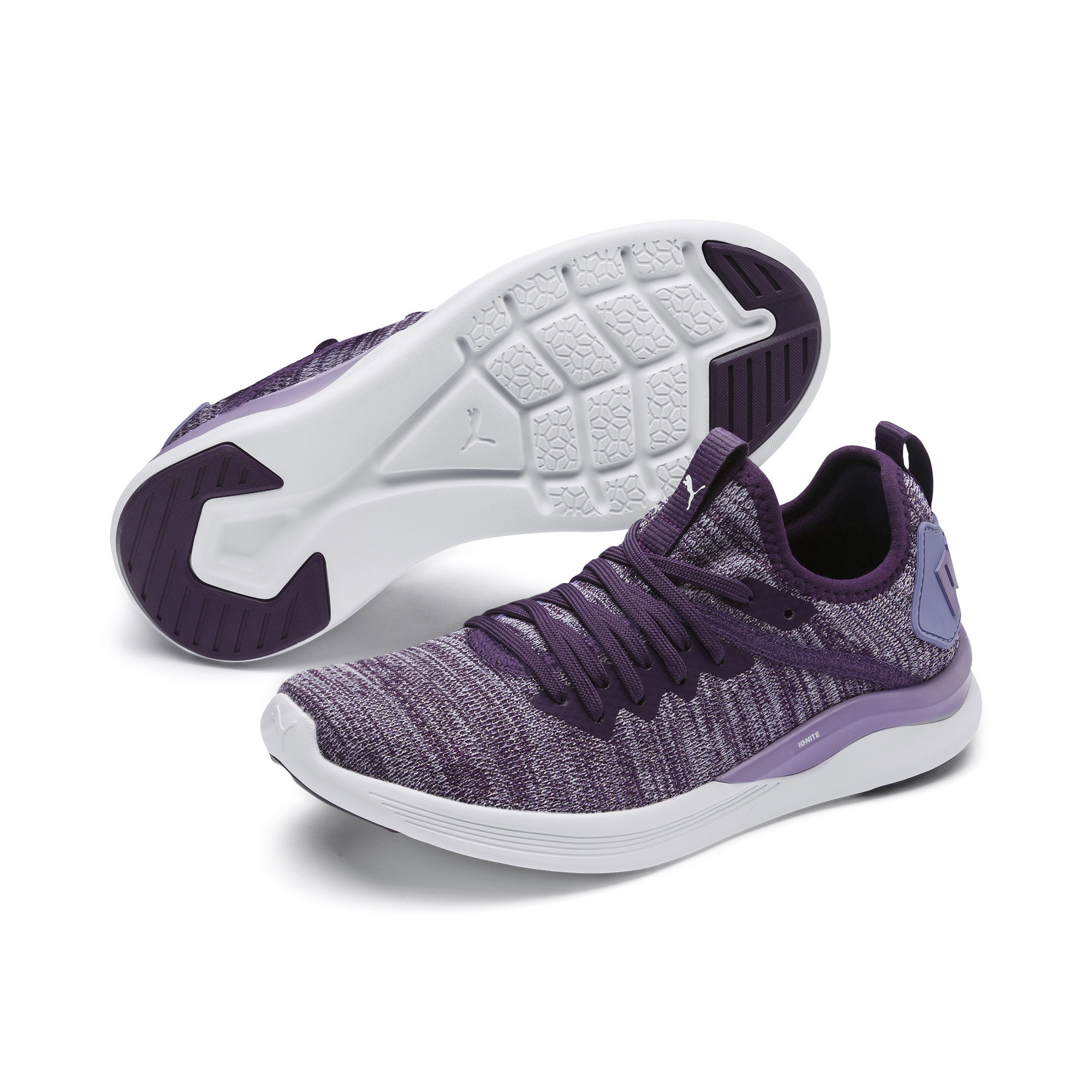 Image Puma IGNITE Flash evoKNIT Metallic Girls' Sneakers #2