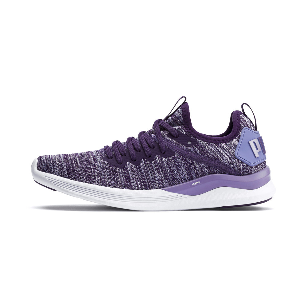 Image Puma IGNITE Flash evoKNIT Metallic Girls' Sneakers #1