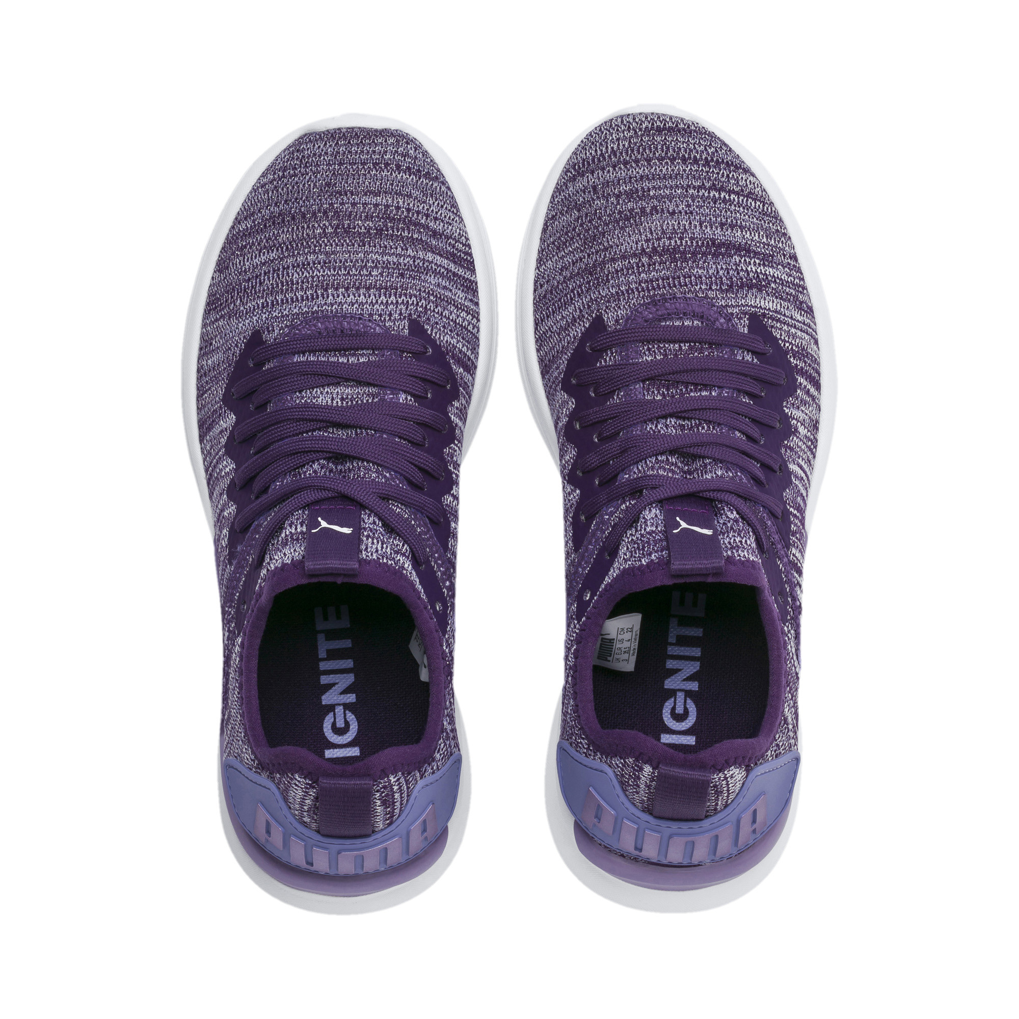 Image Puma IGNITE Flash evoKNIT Metallic Girls' Sneakers #6