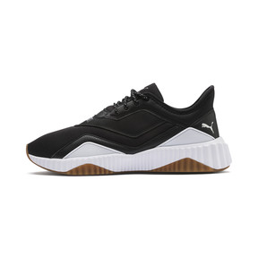 Thumbnail 1 of Defy Stitched Women's Training Shoes, Puma Black-Puma White, medium