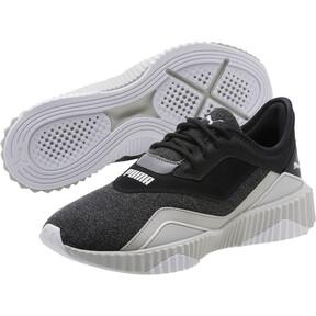 Thumbnail 2 of Defy Stitched Z Women's Training Shoes, Puma Black-Glacier Gray, medium