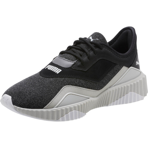 Defy Stitched Women's Training Shoes | Puma Black Puma White